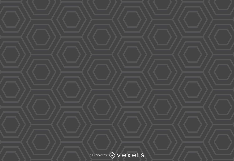 Fondo gris del modelo del hexágono