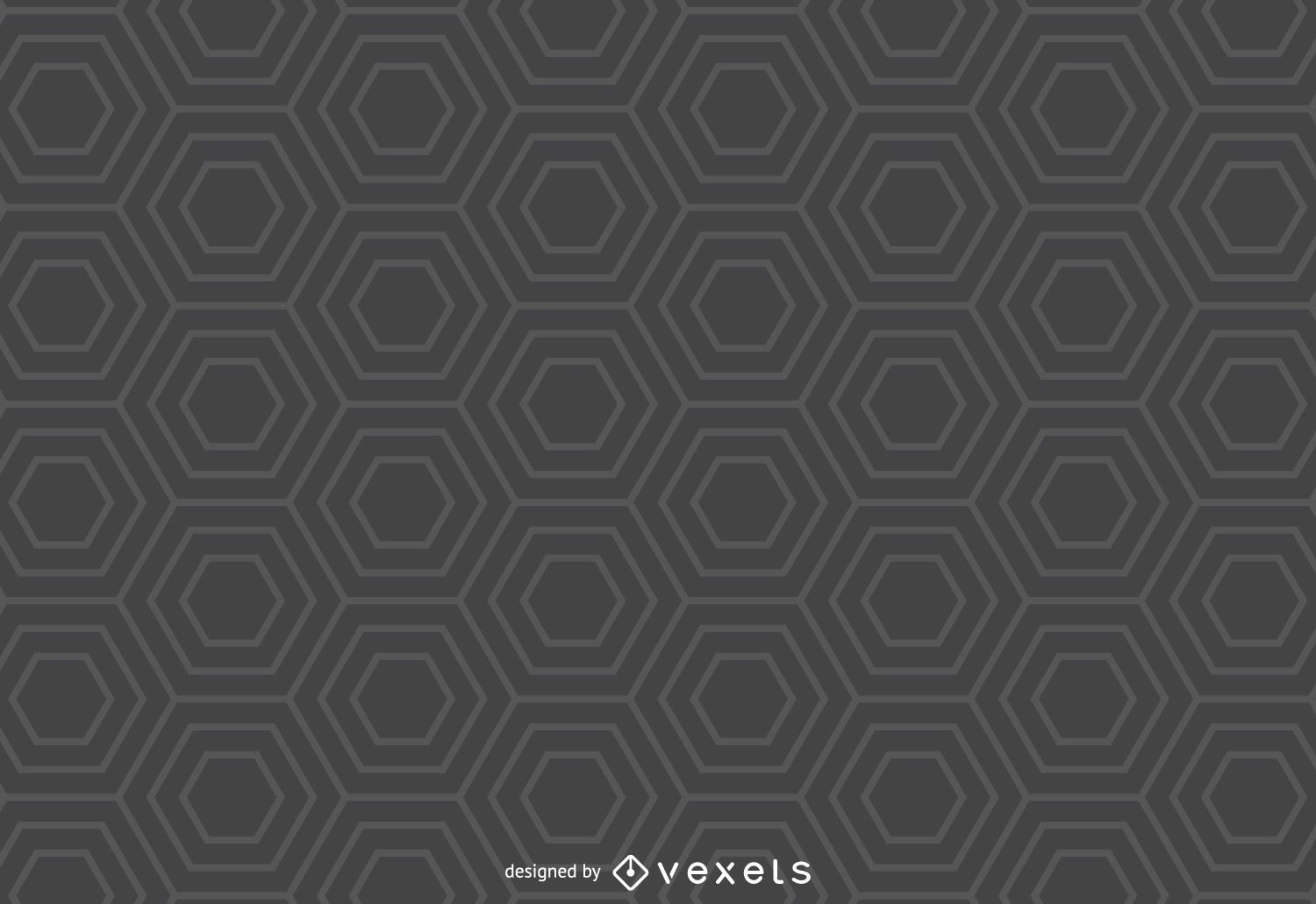 Gray hexagon pattern background - Vector download