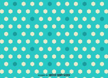 modelo poligonal hexagonal brillante