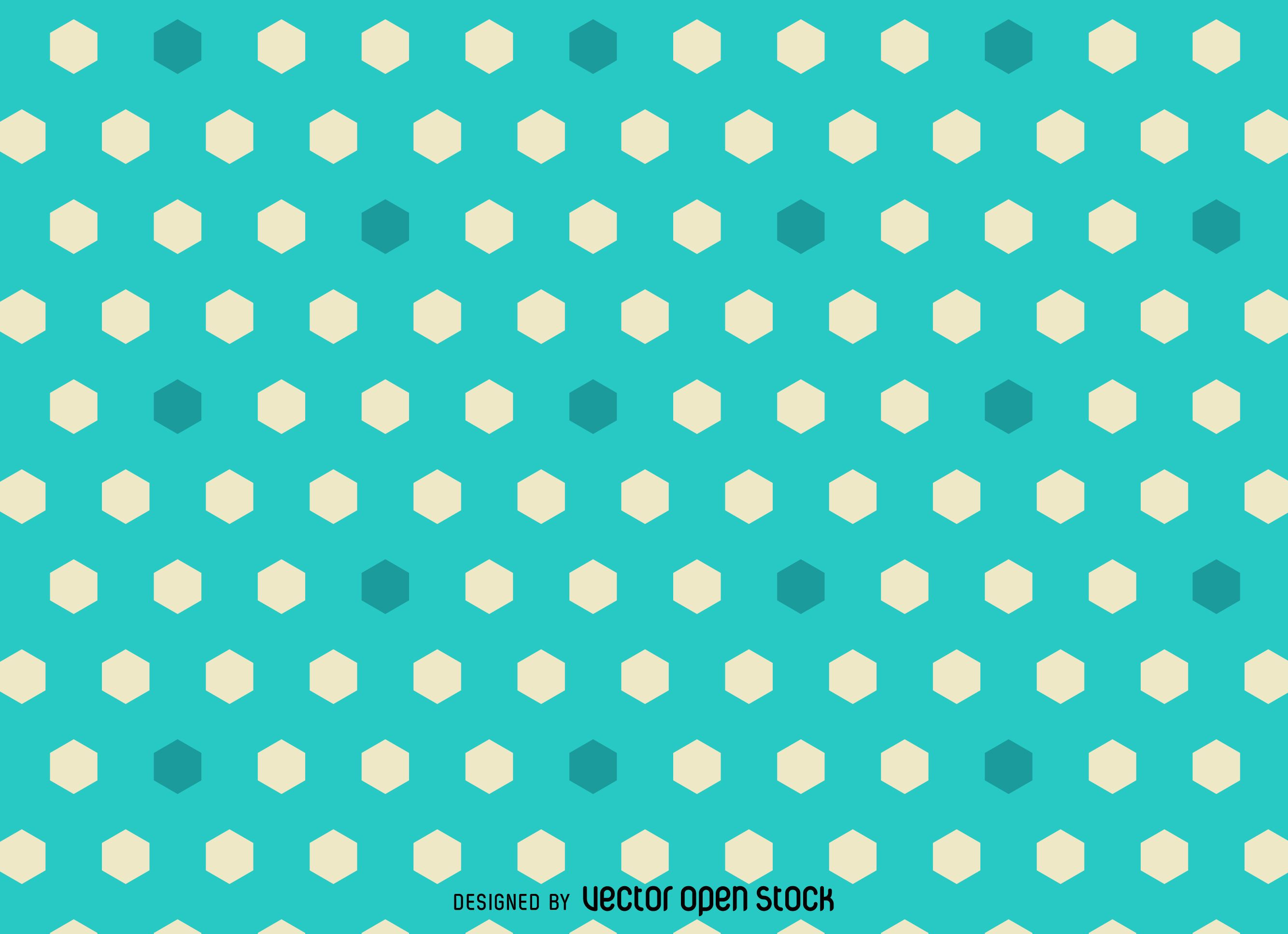 Bright hexagon polygonal pattern