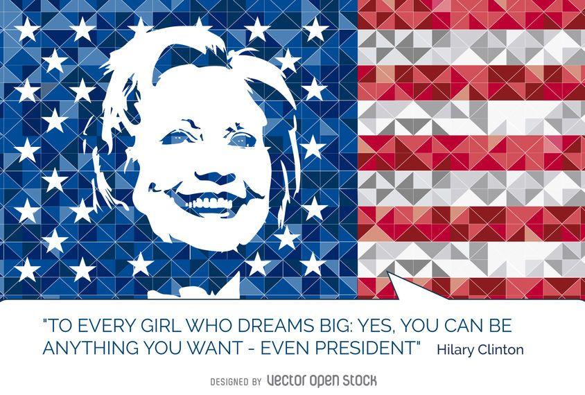 Hillary Clinton cita la bandera de Estados Unidos