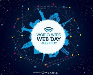 Ilustração do dia da World Wide Web