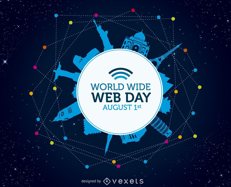 World wide web day illustration