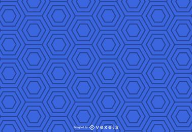 Blue geometric hexagonal pattern