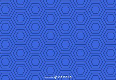 Patrón geométrico hexagonal azul