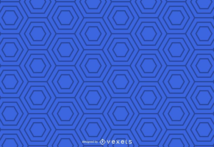 Blue geometric hexagonal pattern