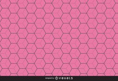 Fondo del patrón hexagonal de línea delgada