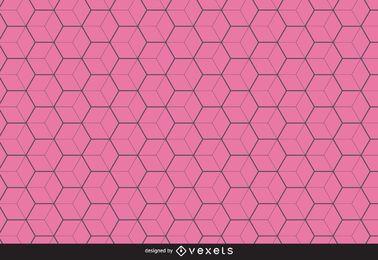 Fundo de padrão de hexágono de linha fina