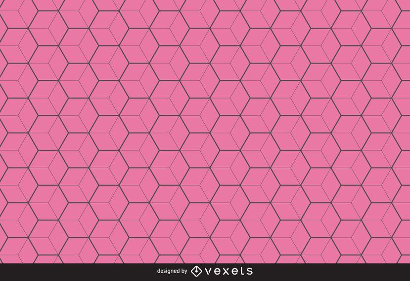 Dünne Linie Hexagonmusterhintergrund