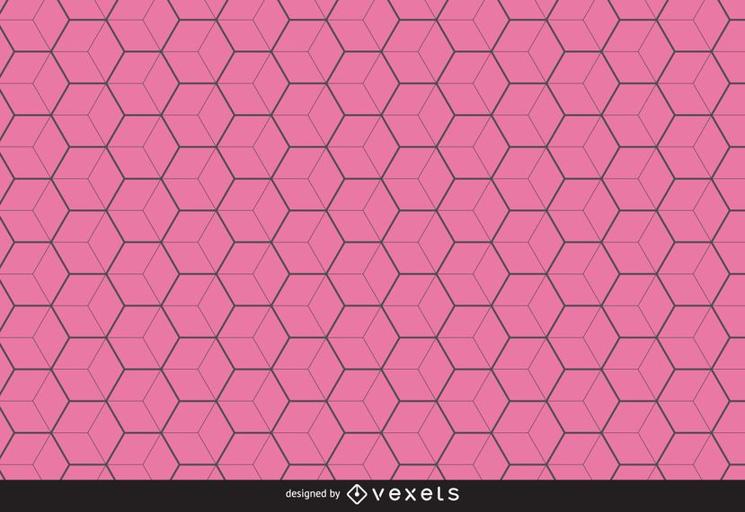 Thin line hexagon pattern background