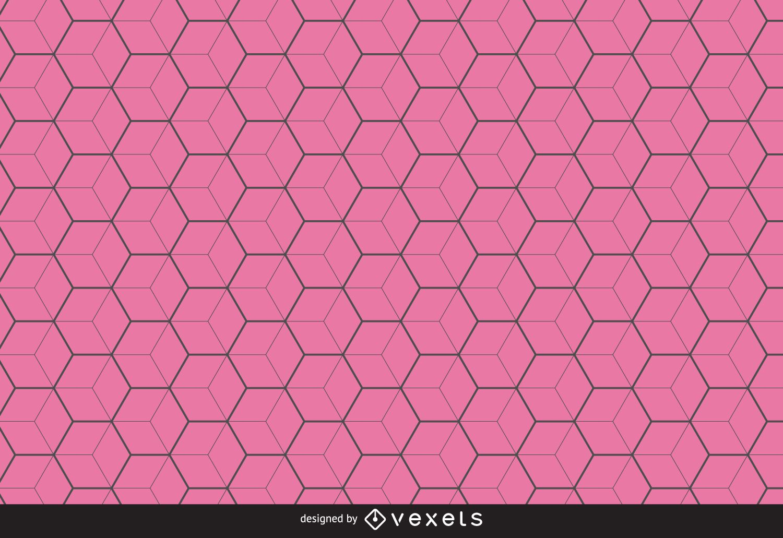 Thin line hexagon pattern background