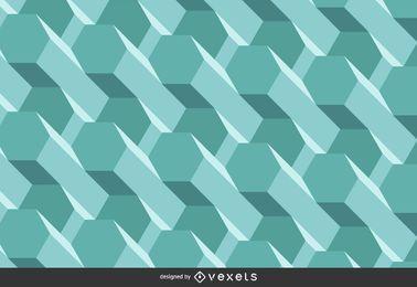 Fundo poligonal 3D abstrato