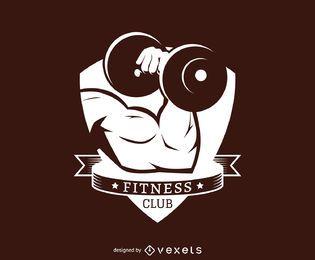 Modelo de logotipo de rótulo de clube de fitness