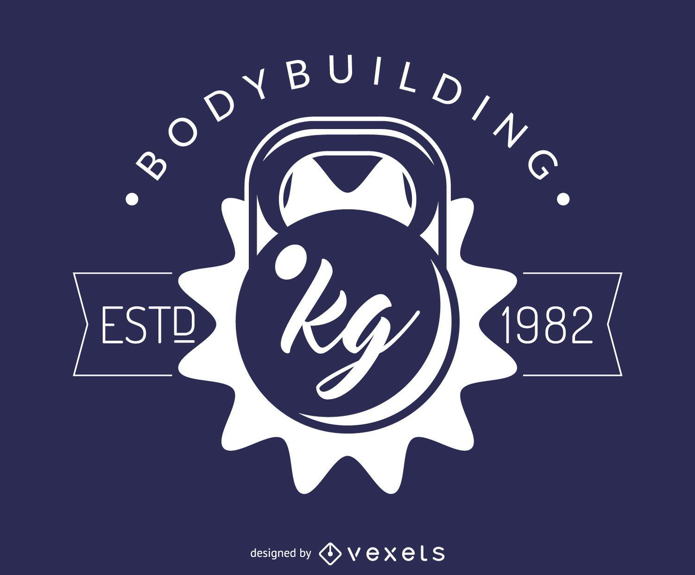 Hipster bodybuilding stamp