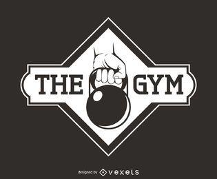 logotipo de la aptitud de pesas rusas