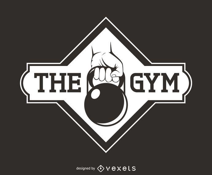 Kettlebell fitness logo template