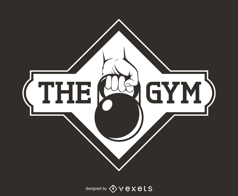 Kettlebell fitness logo template - Vector download