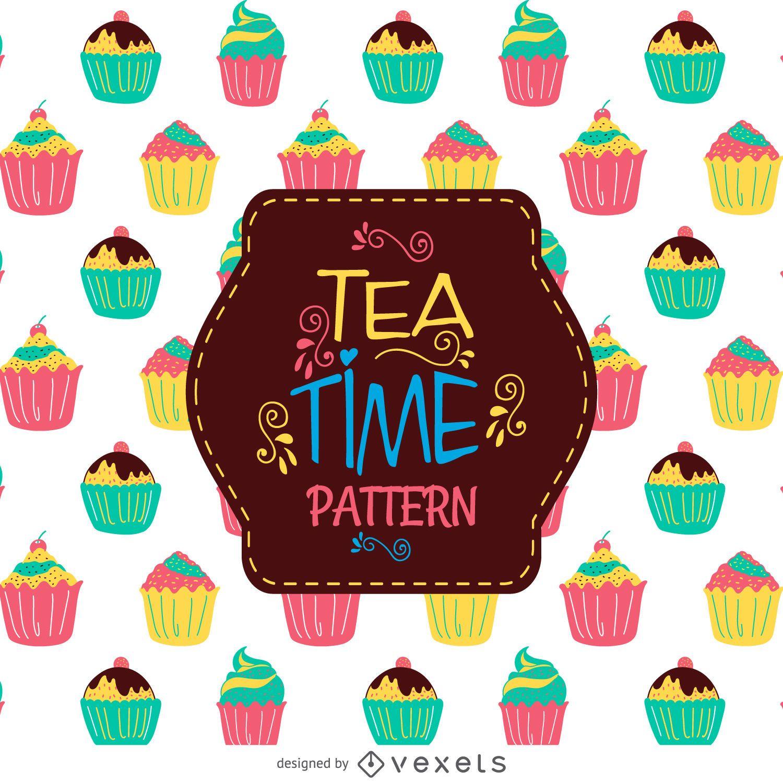Cupcake de patrones sin fisuras