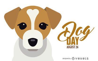 Día del perro ilustración