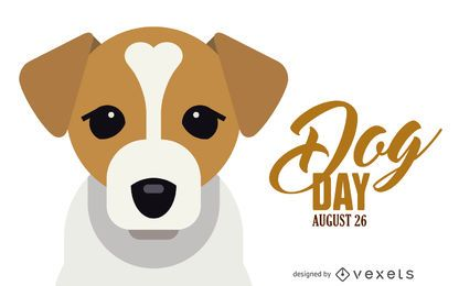 Dog Day illustration banner