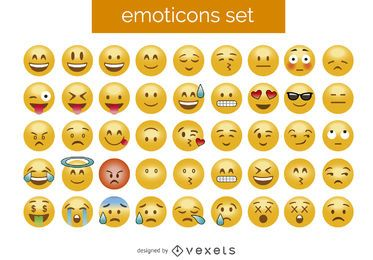 3D emoticon set