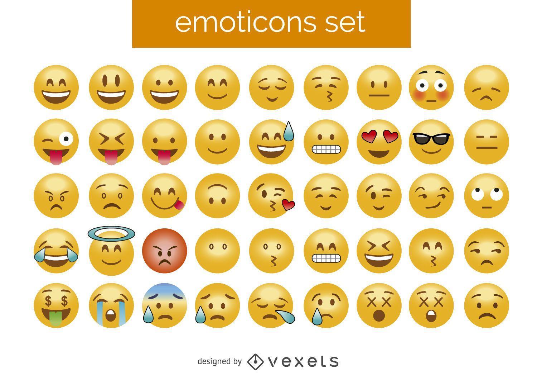Conjunto de emoticonos 3D