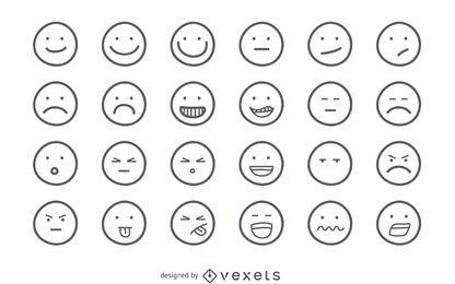 Conjunto de contorno Emoji