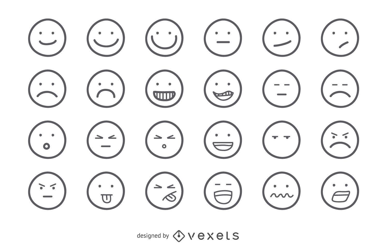 Conjunto de contorno de emoji