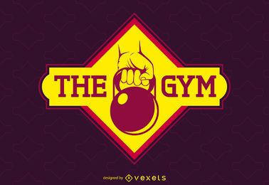Bright gym label logo template