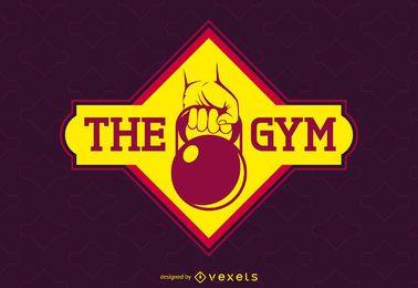 logotipo da etiqueta brilhante ginásio