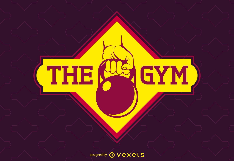 Bright gym label logo template