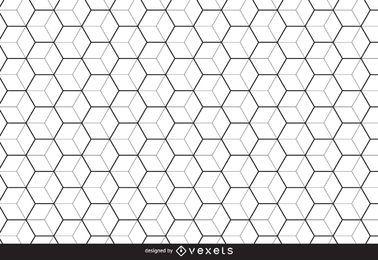 Fundo do teste padrão do hexágono Linear