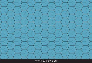 Blauer Hexagonmusterhintergrund