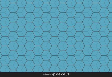 Blue hexagon pattern background