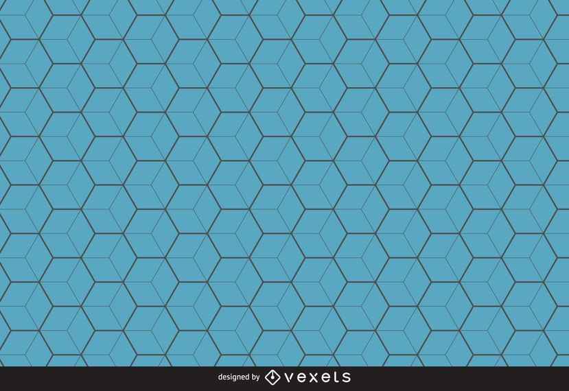 Blue hexagon pattern background