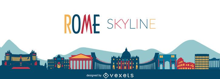 Rome sykline illustration