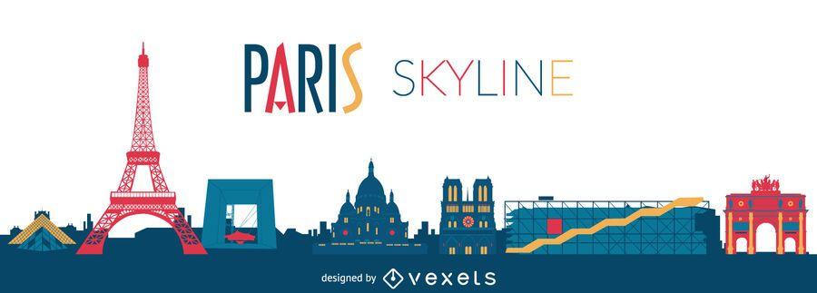 Desenho de sykline de Paris