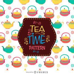 Teekannen, die Muster zeichnen