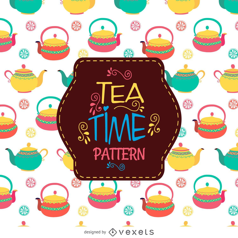 Teapots drawing pattern
