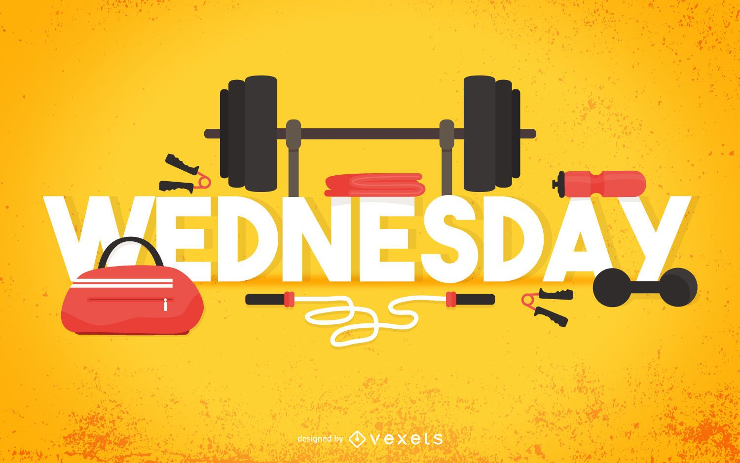 Wednesday Gym Poster Vector Download