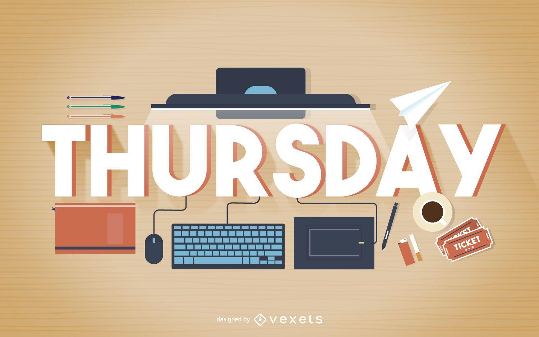 Thursday work poster
