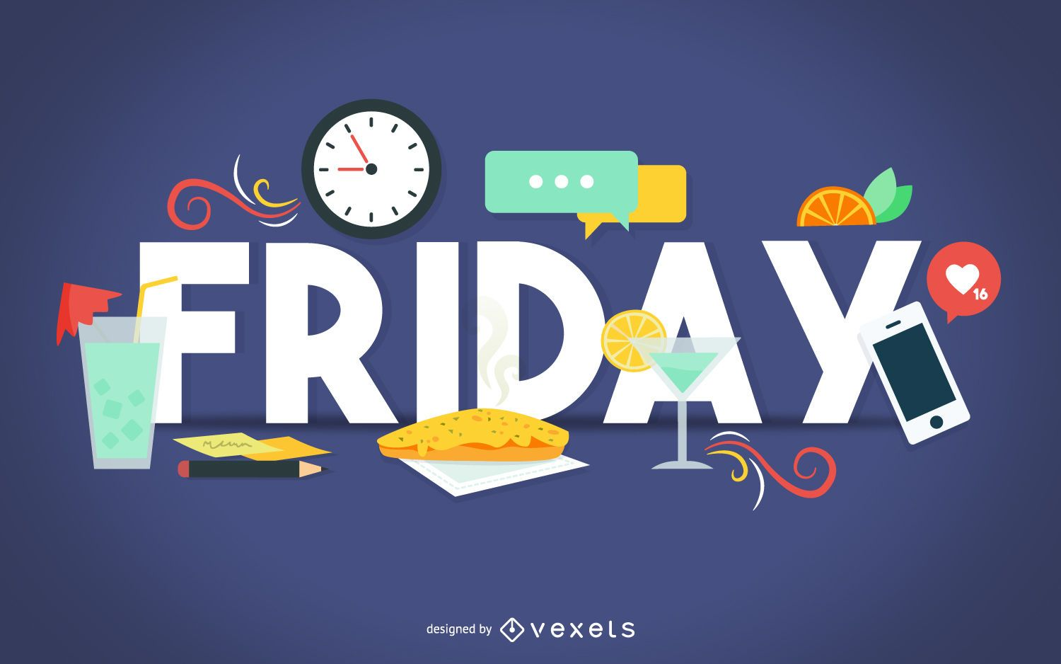 Friday happy hour banner