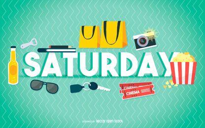 Pôster de entretenimento de sábado