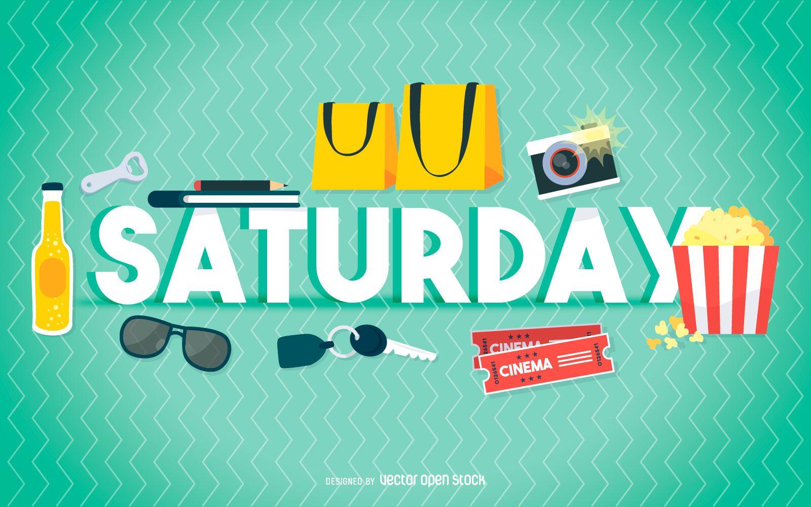 Cartel de entretenimiento del sábado