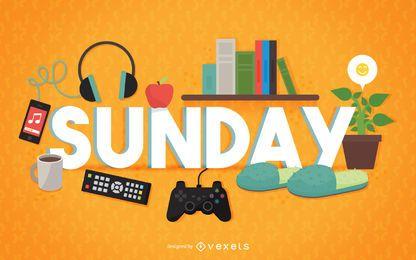 Sonntag Relax Zeichen