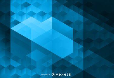 Fondo cúbico poligonal abstracto