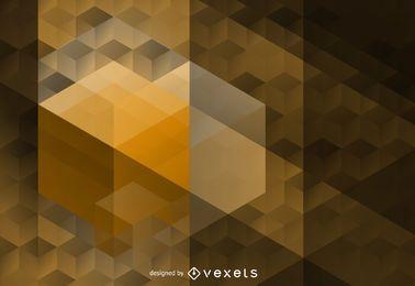 Padrão de hexágono poligonal