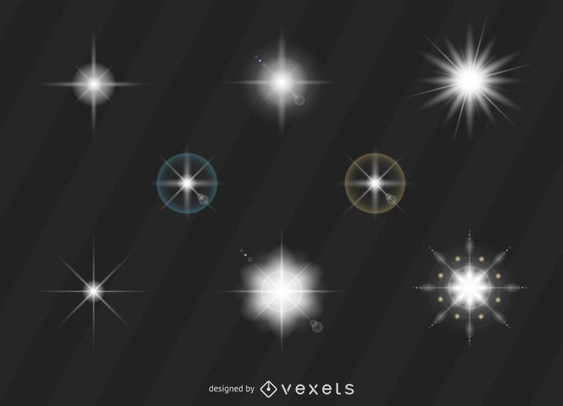 Conjunto de clarão de luz