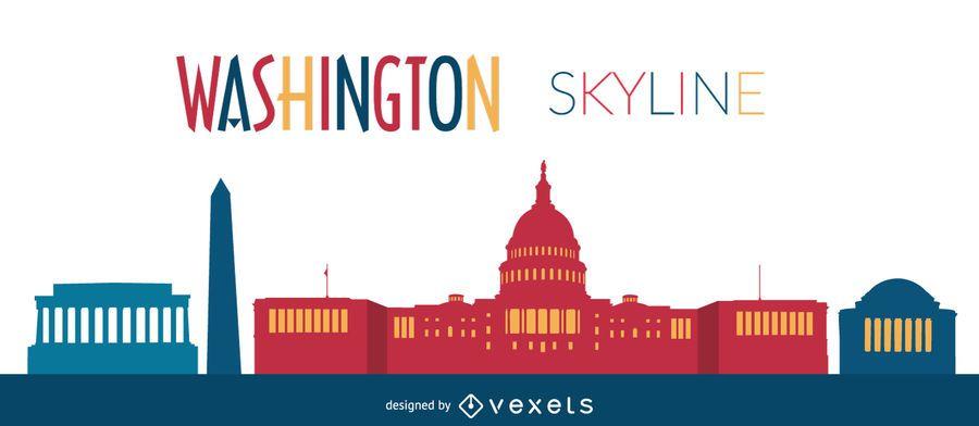 Ilustração do horizonte de Washington