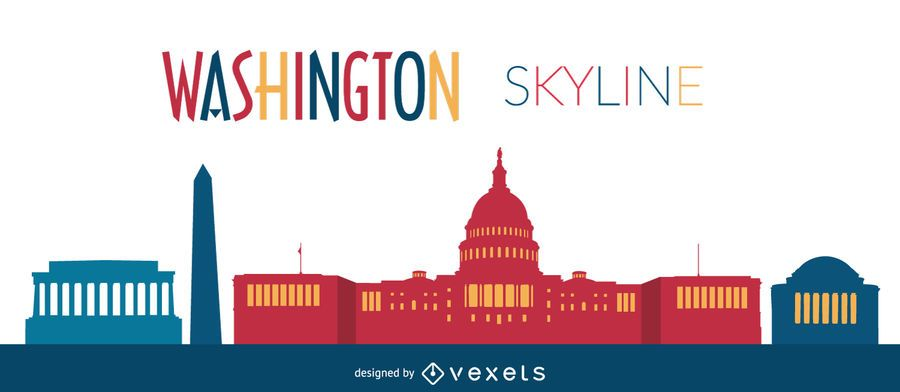 Washington skyline illustration